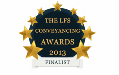 Law Firm Services Conveyancing Awards - 2013 logo