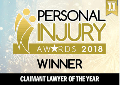 Personal Injury Awards, lawyer of the year - 2018 logo