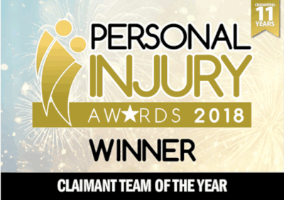 Personal Injury Awards, Team of the year - 2018 logo