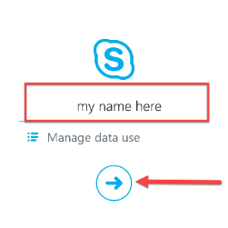 Add your name Skype for Business